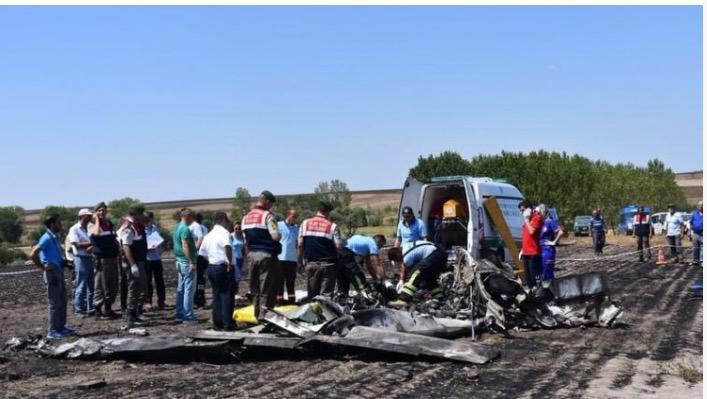 Takirdağ'da Eğitim Uçağı Düştü