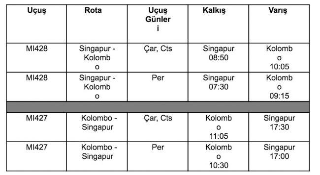 Singapur airlines kampanya