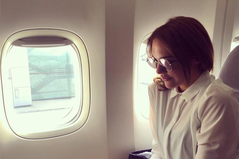 Meryem Uzerli, uçakta fenalaştı