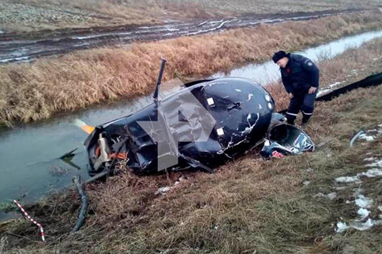 FIA Dünya Helikopter şampiyonu inişte kaza yaptı
