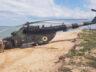Ukrayna Hava Kuvvetleri'nin Mi-8'i sahile acil indi