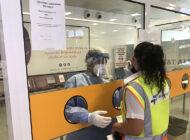 Ercan Havalimanı personeline Covid-19 testi