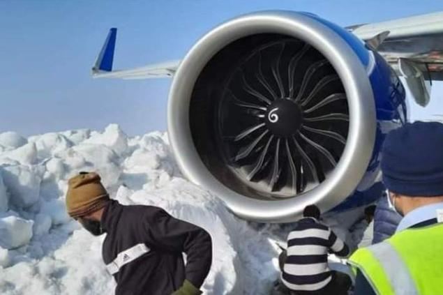 Indigo havayolu kar nedenile seferini iptal etti