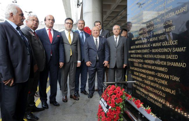 AHL'de terör saldırısında şehit olanlar için anıt yapıldı