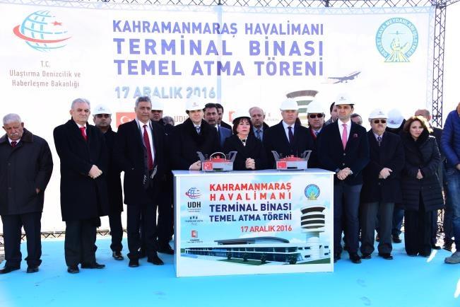 K.Maraş Terminal Binası temeli Başbakan Yıldırım tarafından atıldı