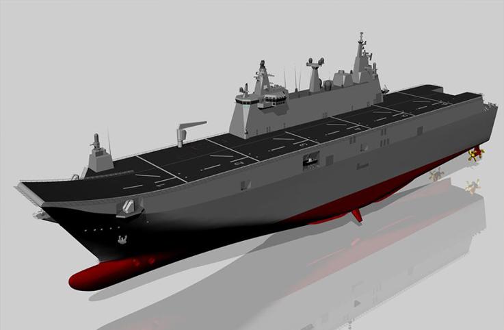 Türkiye'nin en büyük askeri gemisi olacak TCG Anadolu 1 yıl erken bitecek