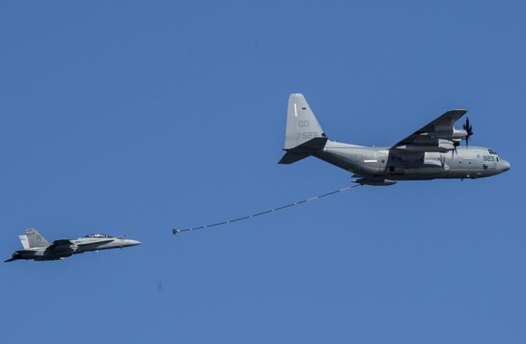 ABD donanmasının 2 uçağı yakıt nakli yaparken çarpıştı