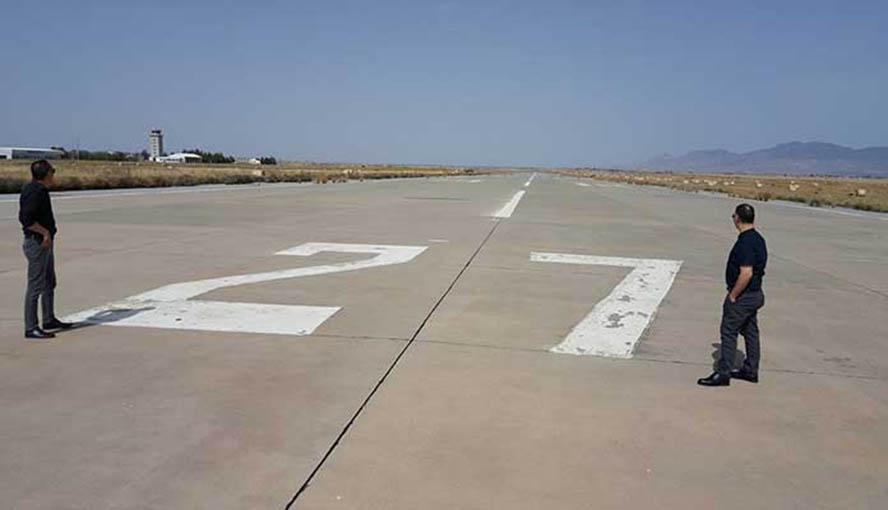 KKTC Geçitkale Havalimanı'nda çalışmalar başladı