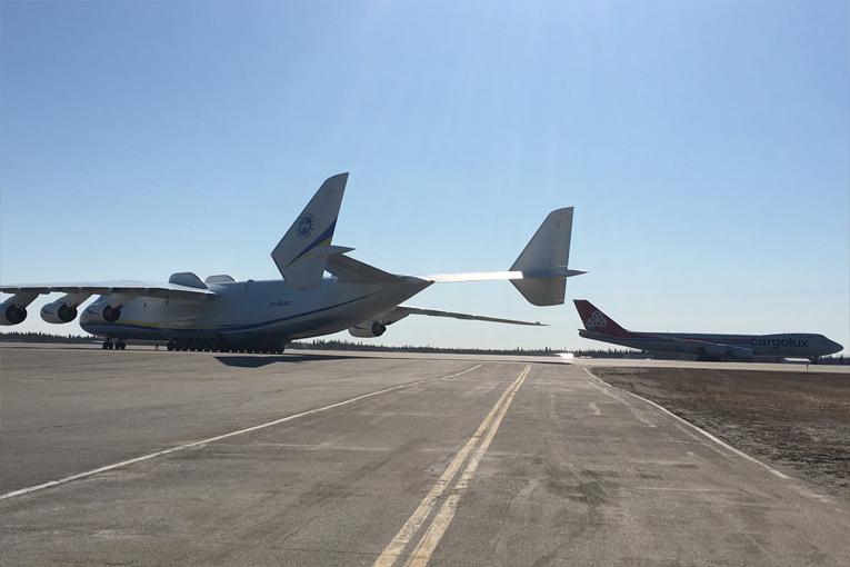 Bomba ihbarı AN-225'i Fairbanks Havalimanı'na indirdi